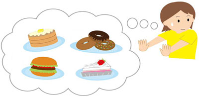 炭水化物抜き食事の画像