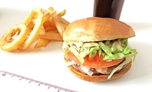 ハンバーガーなどの脂肪の多い料理